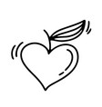 monoline valentines day hand drawn vector image vector image