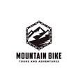 mountain bike logo icon vector image vector image
