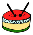 multicolor drum on white background vector image vector image