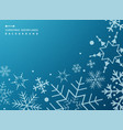 pattern of white geometric snowflakes on gradient vector image vector image