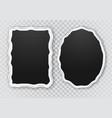 photo frames cartoon set vector image vector image