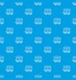 railway wagon pattern seamless blue vector image vector image