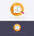 research and planning company logo vector image vector image