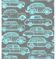 seamless dark background with retro cars vector image vector image