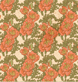 Seamless pattern of vintage decorative red poppies vector image