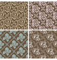 Set of seamless floral retro patterns vector image