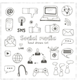 set of social media sign and symbol vector image vector image