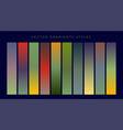 set of vintage gradients design vector image vector image