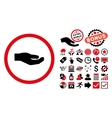 Share Hand Flat Icon with Bonus vector image vector image