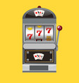 slot machine realistic style vector image vector image