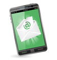 Smart Phone with e-mail vector image vector image