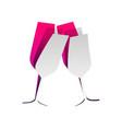 sparkling champagne glasses detachable vector image