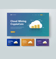 template header for cloud mining crypto-currency vector image vector image