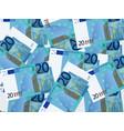 twenty euro background vector image vector image