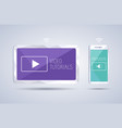 video tutorials and podcast on smartphone vector image