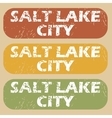 Vintage Salt Lake City stamps vector image vector image