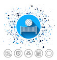 volleyball net ball icon beach sport symbol vector image vector image