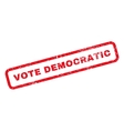 Vote Democratic Rubber Stamp vector image vector image