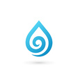 Water drop symbol logo design template icon May be vector image vector image