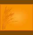 wheat image in gold vector image