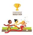 women championship marathon runners vector image vector image