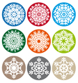 Xmas snowflake set vector image vector image