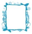 Winter floral frame vector image