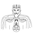 King on a white background hand drawn vector image