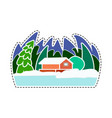 a snow-covered village vector image vector image