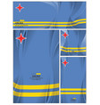 abstract aruba flag background vector image vector image