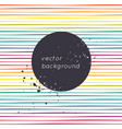 abstract background with rainbow stripes place vector image vector image