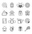 apiary honey icons set outline style vector image vector image