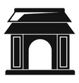asian gate icon simple style vector image