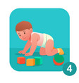 baby learns to crawl concept vector image