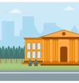 Background of educational building vector image vector image