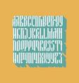 balalaika font set vector image vector image