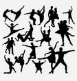 ballerina ballet dance silhouette vector image vector image