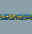 banner coronavirus safety tapes vector image