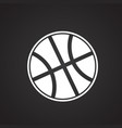 basketball ball on black background vector image vector image