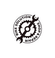 bicycle bike shop bike club logo icon vector image vector image