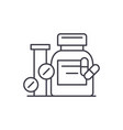 biologically active additives line icon concept vector image