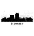bismarck north dakota city skyline silhouette vector image vector image