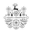 black and white christmas card vector image vector image