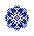 blue mandala pattern vector image