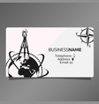 business card of geodesy and cartography vector image vector image