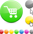 Buy glossy button vector image vector image