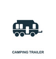 camping trailer icon mobile app printing web vector image