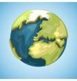 Cartoon earth planet globe in vector image vector image