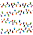 Christmas lights different colors vector image vector image