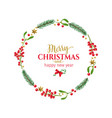 christmas round frame vector image vector image